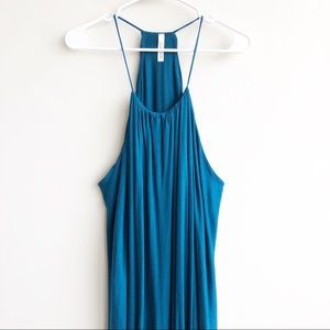 Love In | Crossover Hi Lo Halter Maxi Dress